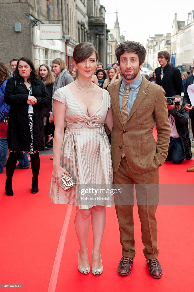 Jocelyn Towne and <a gi-track='captionPersonalityLinkClicked' href=/galleries/search?phrase=Simon+Helberg&family=editorial&specificpeople=3215017 ng-click='$event.stopPropagation()'>Simon Helberg</a> attend the Closing Night Gala and International Premiere of 'We'll Never Have Paris' at Festival Theatre during the Edinburgh International Film Festival on June 29, 2014 in Edinburgh, Scotland.