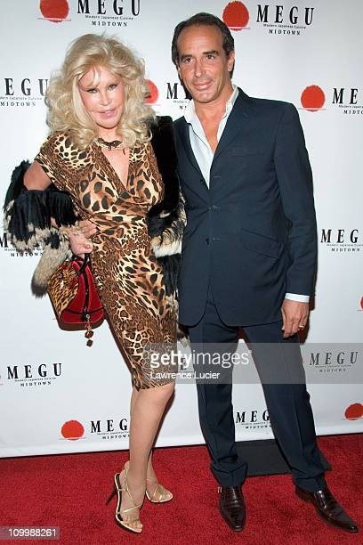 Jocelyn Wildenstein and Lloyd Klein during Grand Opening of Megu Midtown at Trump World Towers at Trump World Towers in New York NY United States