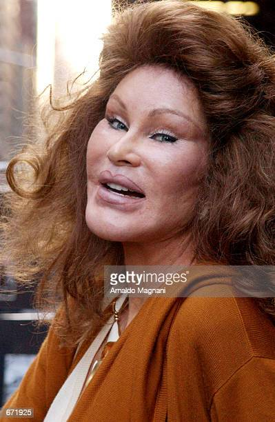 Jocelyn Wildenstein prepares to enter her Rolls Royce November 17 2001 in New York City after lunching and shopping at Barney's