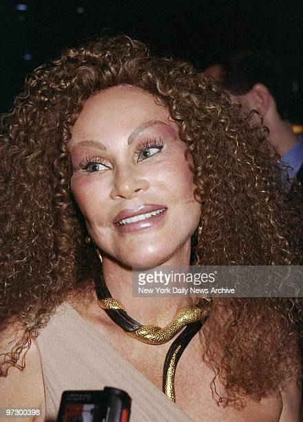 Jocelyne Wildenstein at the Life Club on Bleecker St where she received the Nightlife Award