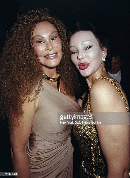 Jocelyne Wildenstein gets together with Tina Sellem at the Life Club on Bleecker St where Wildenstein received the Nightlife Award