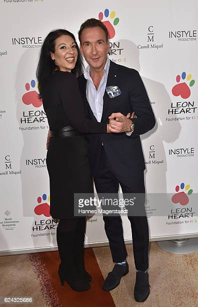 Jochen Bendel and actress Tatjana Maximovic during the charity dinner hosted by the Leon Heart Foundation at Hotel Vier Jahreszeiten on November 18...