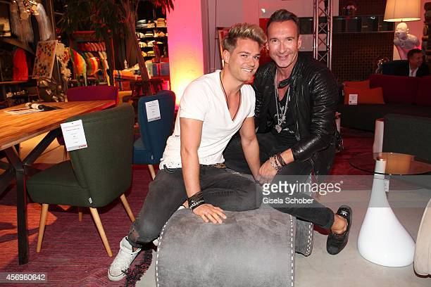 Jochen Bendel and his boyfriend Matthias Bridohl attend the grand opening of KARE Kraftwerk on October 9 2014 in Munich Germany