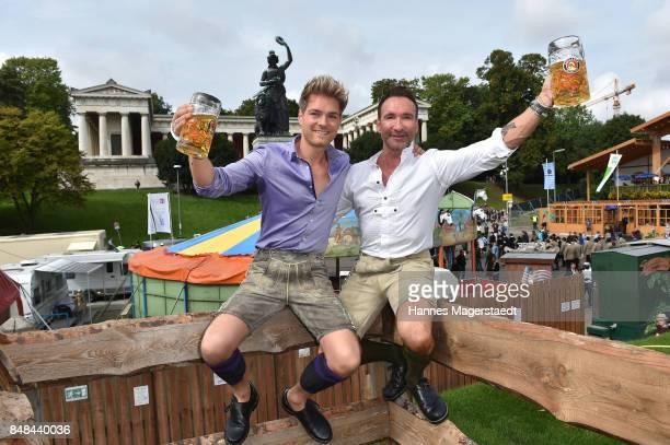 Jochen Bendel and his husband Matthias Pridoehl during the ProSieben Sat1 Wiesn as part of the Oktoberfest 2017 at Kaefer Tent on September 17 2017...