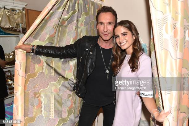 Jochen Bendel and Lucia Strunz during 'Marcell von Berlin Store Opening' on March 4 2017 in Munich Germany