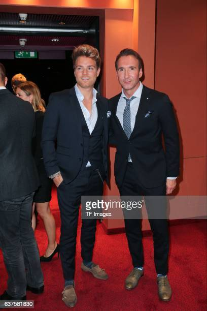 Jochen Bendel and Matthias Pridoehl attend the premiere of the Mary Poppins musical at Stage Apollo Theater on October 23 2016 in Stuttgart Germany