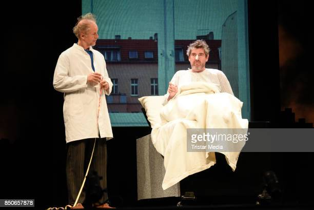 Jochen Horst and Stephan Szasz during the 'Und Gott sprach Wir muessen reden' rehearsal photo call at Komoedie am Kurfuerstendamm on September 21...