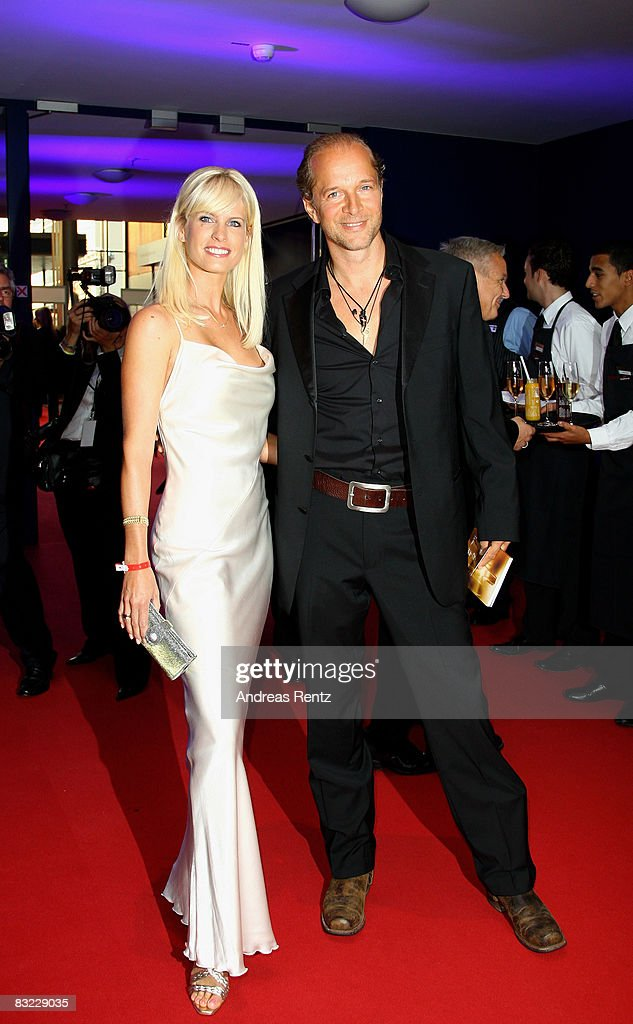 Jochen Horst and Tina Ciamperla arrive for the German TV Award 2008 at the Coloneum on October 11, 2008 in Cologne, Germany.