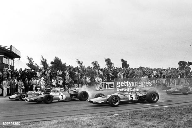 Jochen Rindt Jackie Stewart Denny Hulme Grand Prix of Great Britain Silverstone Circuit July 19 1969