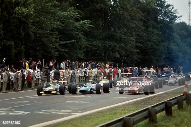 Jochen Rindt Jackie Stewart Jacky Ickx Grand Prix of France RouenLesEssarts July 7 1968