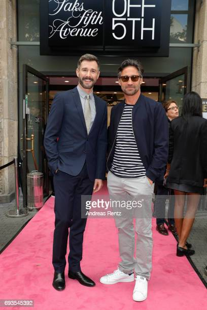 Jochen Schropp and Benjamin Sadler attend the preopening party 'Saks OFF 5TH' at Carsch Haus on June 7 2017 in Duesseldorf Germany