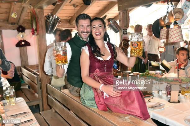Jochen Schropp and Christine Henning during the ProSieben Sat1 Wiesn as part of the Oktoberfest 2017 at Kaefer Tent on September 17 2017 in Munich...