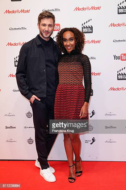 Jochen Schropp and Hadnet Tesfai attend the 99FireFilmAward 2016 at Admiralspalast on February 18 2016 in Berlin Germany