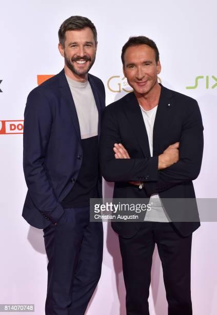 Jochen Schropp and Jochen Bendel attend the program presentation of the television channel ProSiebenSat1 on July 13 2017 in Hamburg Germany