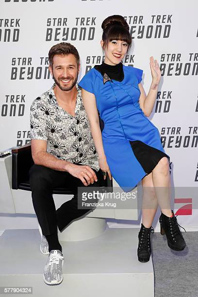 Jochen Schropp and Melissa Lee attend the VIP screening of the film 'Star Trek Beyond' at Zoopalast on July 19 2016 in Berlin Germany