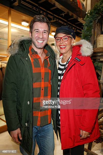 Jochen Schropp and Natascha Ochsenknecht attend the Woolrich Store Opening on November 25 2015 in Berlin Germany