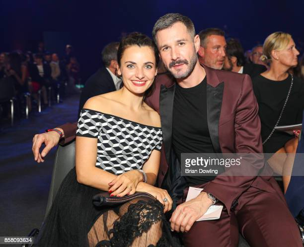 Jochen Schropp and Paula Schramm attend the Tribute To Bambi show at Station on October 5 2017 in Berlin Germany