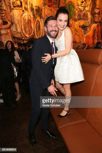 Jochen Schropp and Paula Schramm during the BUNTE BMW Festival Night 2017 during the 67th Berlinale International Film Festival Berlin at restaurant...