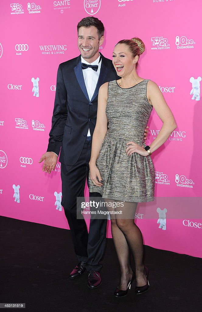 Jochen Schropp and Ruth Moschner attend the Closer Charity Event SMILE at Hotel Vier Jahreszeiten on December 2, 2013 in Munich, Germany.