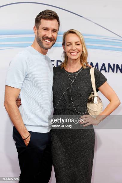 Jochen Schropp and Simone Hanselmann attend the 'Bertelsmann Summer Party' at Bertelsmann Repraesentanz on June 22 2017 in Berlin Germany