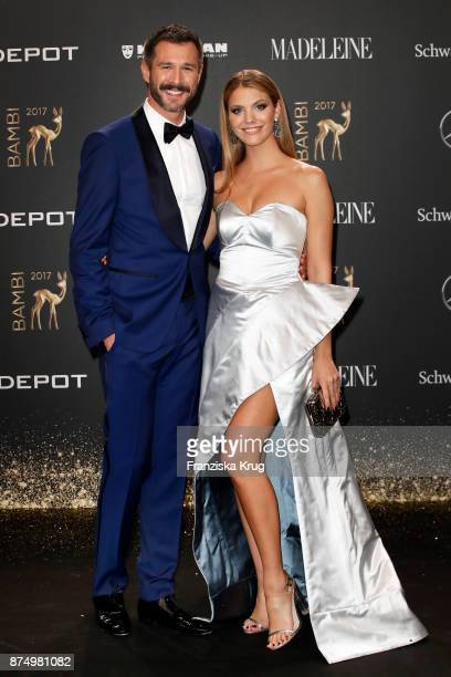 Jochen Schropp and Viviane Geppert arrive at the Bambi Awards 2017 at Stage Theater on November 16 2017 in Berlin Germany