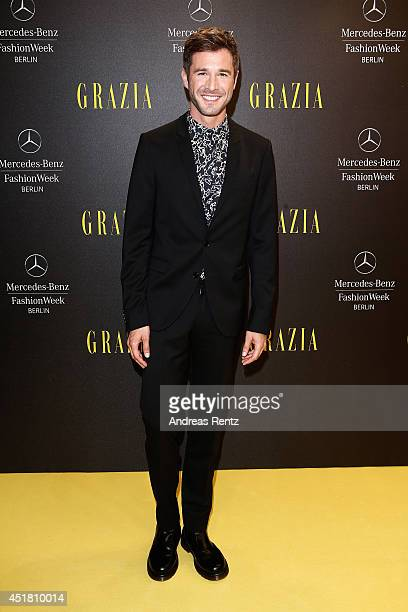 Jochen Schropp arrives for the Opening Night by Grazia fashion show during the MercedesBenz Fashion Week Spring/Summer 2015 at Erika Hess Eisstadion...