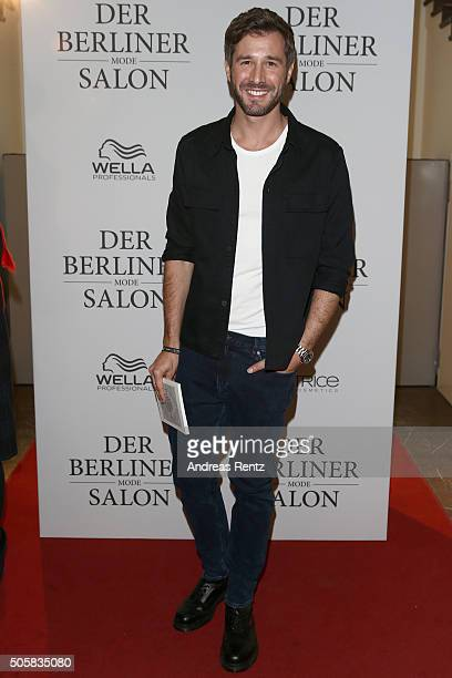 Jochen Schropp attends 'Der Berliner Mode Salon' Group Presentation during the MercedesBenz Fashion Week Berlin Autumn/Winter 2016 at...
