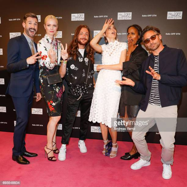 Jochen Schropp Franziska Knuppe Riccardo Simonetti Eva Padberg Sara Nuru and Benjamin Sadler attend the preopening party 'Saks OFF 5TH' at Carsch...