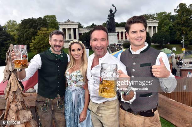 Jochen Schropp Maria Hering Jochen Bendel and Dominik Bruntner during the ProSieben Sat1 Wiesn as part of the Oktoberfest 2017 at Kaefer Tent on...