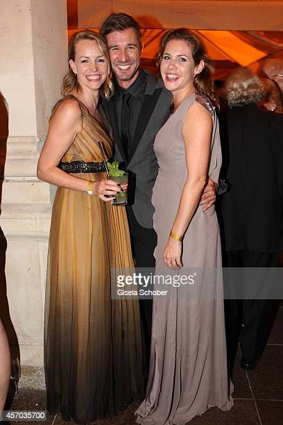 Jochen Schropp Simone Hanselmann Felicitas Woll attend the Hessian Film And Cinema Award 2014 on October 10 2014 at Alte Oper in Frankfurt am Main...