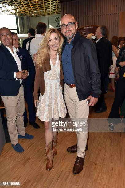 Jochen Schweizer and Andrea Kaiser attend the Pre Golf Party during the 9th Golf Charity Cup hosted by the Christoph Metzelder Foundation at the...