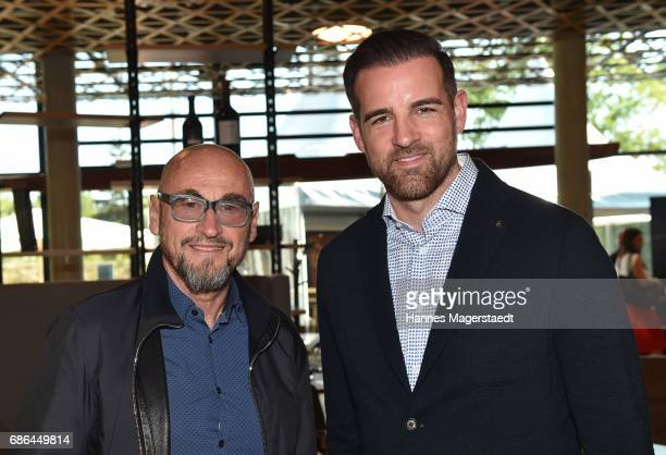 Jochen Schweizer and Christoph Metzelder attend the Pre Golf Party during the 9th Golf Charity Cup hosted by the Christoph Metzelder Foundation at...