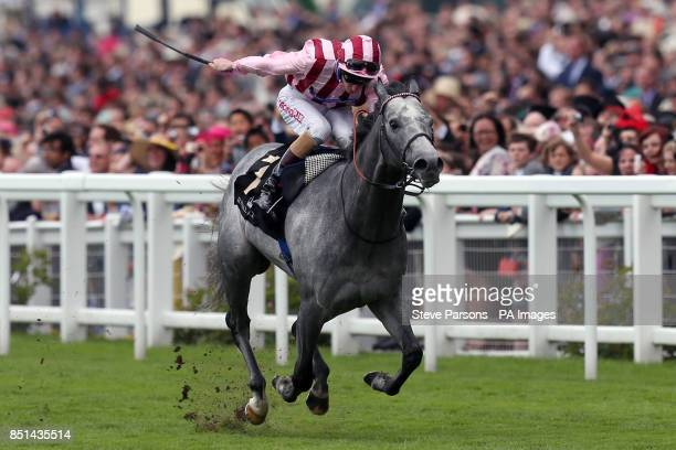 Jockey Adam Kirby on Lethal Force race in the Diamond Jubilee Stakes during day five of the Royal Ascot meeting at Ascot Racecourse Berkshire