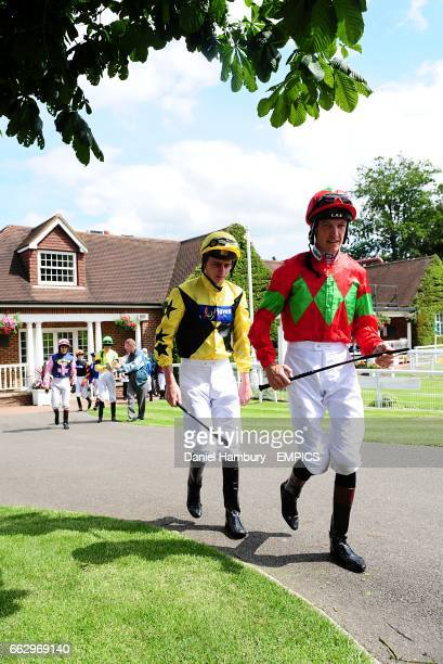Jockey Adam Kirby prior to his ride on Perfect Citizen with Richard Hughes who was on Pure Poetry in the EMS Radio Fire Security Maiden Stakes