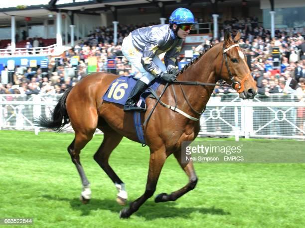 Jockey Adrian Nicholls on Ilie Nastase goes to post in the SurrendaLink Earl Grosvenor Heritage Handicap