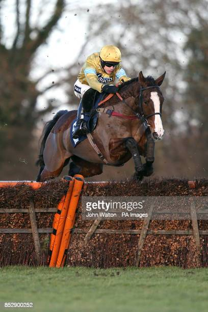 Jockey Aidan Coleman on Arthur's Oak during the 32red Casino Novices' Hurdle