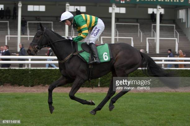 Jockey Alan Berry on Future Vision during the freebetscouk Halloween Free Bets Standard NH Flat Race
