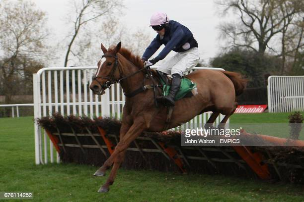 Jockey Andrew Kinirons on And Whatever Else during the Freebetscouk Betting Mare's Handicap Hurdle