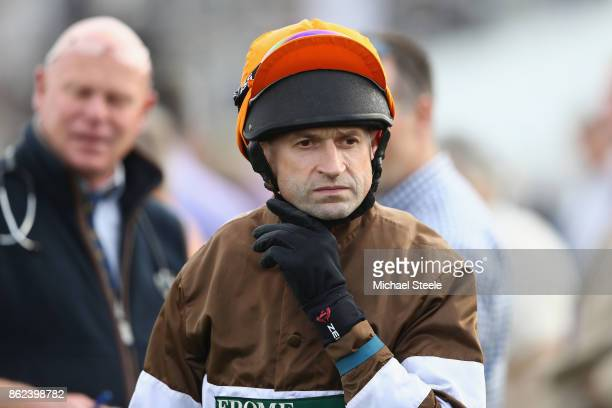 Jockey Andrew Thornton ahead of his ride on Kentford Myth following his return to the saddle after a ten month injury lay off at Worcester Racecourse...