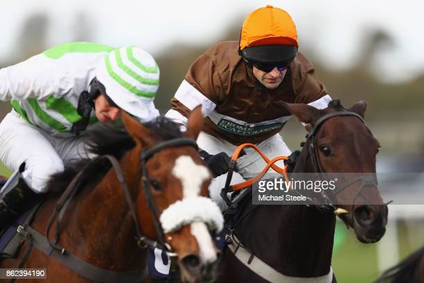 Jockey Andrew Thornton in action on Kentford Myth following his return to the saddle after a ten month injury lay off at Worcester Racecourse on...