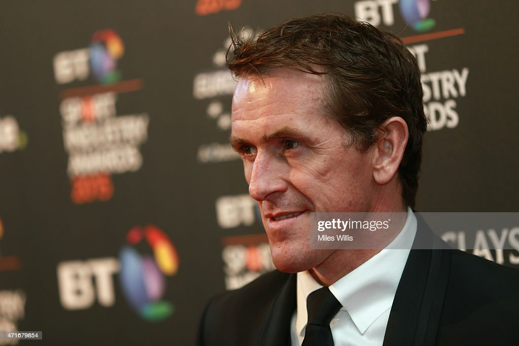 Jockey AP McCoy poses on the red carpet at the BT Sport Industry Awards 2015 at Battersea Evolution on April 30, 2015 in London, England. The BT Sport Industry Awards is the most prestigious commercial sports awards ceremony in Europe, where over 1750 of the industry's key decision-makers mix with high profile sporting celebrities for the most important networking occasion in the sport business calendar.