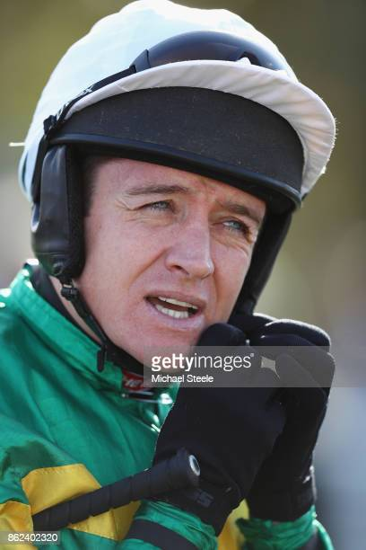 Jockey Barry Geraghty at Worcester Racecourse on October 17 2017 in Worcester England