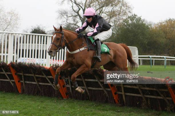 Jockey Bernie Wharfe on Never Sold Out during the Freebetscouk Free Sports Betting Novices' Selling Hurdle