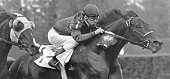 Jockey Bill Hartack rides Iron Liege circa 1957