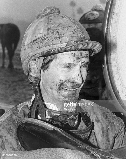 Jockey Bill Shoemaker the world's winningest rider has been in the saddle through thick and thin rain and shine so he takes it with a grin when the...