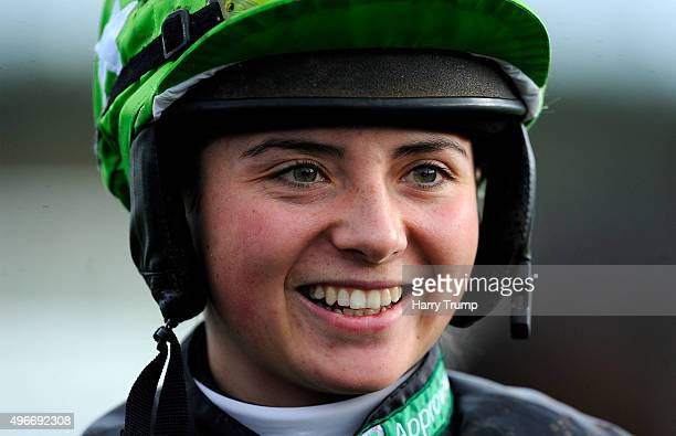 Jockey Bryony Frost at Exeter Racecourse on November 11 2015 in Exeter England