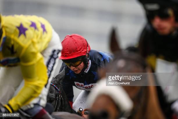 Jockey Bryony Frost in action at Newbury racecourse on December 2 2017 in Newbury United Kingdom