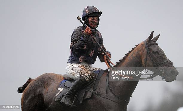 Jockey Bryony Frost looks on at Exeter Racecourse on January 1 2016 in Exeter England