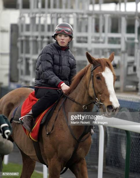 Jockey Carrie Ford riding Forrest Gunner