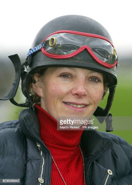 Jockey Carrie Ford who will be riding favourite Forrest Gunner in the Grand National